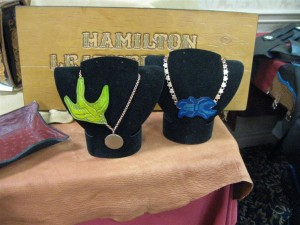 Hamilton Table: necklaces.