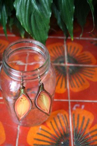 Saskatchewan - Western Red Lily Earrings